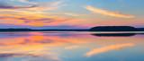 Fototapety Sunset on a lake