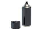black spray paint can
