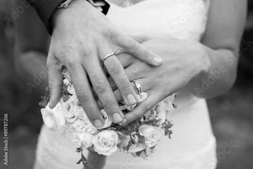 Alliances des mariés Poster