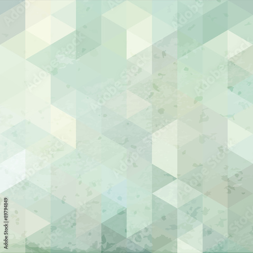 Geometric retro background with grunge texture © olhakostiuk