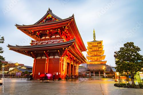 Senso-ji Temple at Asakusa area in Tokyo, Japan Poster