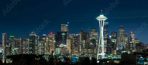 Fototapeta Seattle Skyline at Night