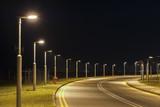 Fototapety Street light and empty street at night