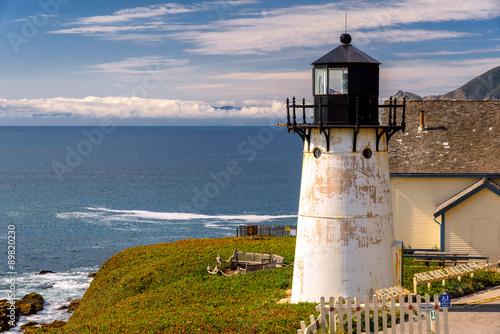 Naklejka Lighthouse on California coast, Point Montara Fog Signal and Light Station
