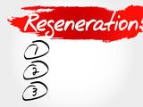 Regeneration blank list, fitness, sport, health concept poster