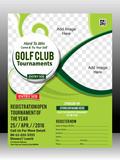 Fototapety golf tournament flyer template design illustration