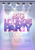 Fototapety Disco background. Big lounge party poster