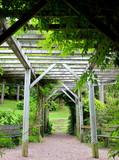 Pergola in garden-Dukontenia-France
