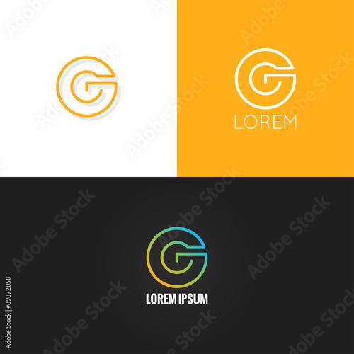 letter G logo alphabet design icon set background