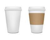 Fototapety Paper coffee cup set