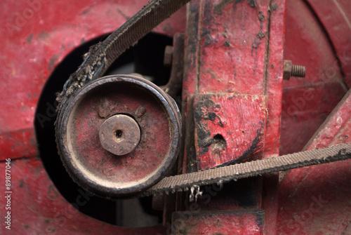 Poster detalle de maquinaria agricola antigua