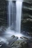 Silky cascade of Chapman Falls, East Haddam, Connecticut.