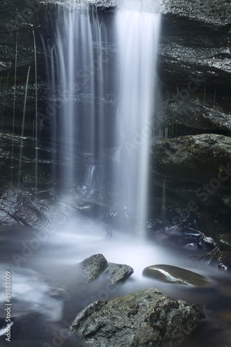 Fototapeta Silky cascade of Chapman Falls, East Haddam, Connecticut.