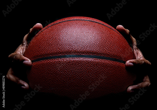 Basketball and Hand Gripping Poster