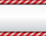 Fototapety Christmas Candy Cane White Background