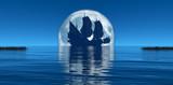 moon and sailing ship