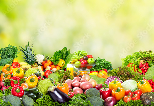 Fresh vegetables and fruits. Poster