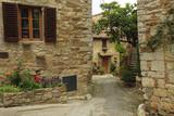 Fototapety beautiful nook  in Montefioralle village, borgo near Greve in Ch