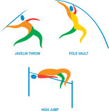 Javelin Throw Pole Vault High Jump Icon