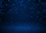Fototapety Blue sparkle glitter abstract background.
