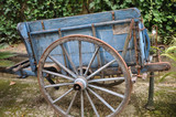 Blue old cart