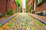 Fototapety Historic Acorn Street at Boston