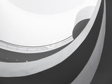 Architecture detail Spiral Slope modern style Black and White - 89981030