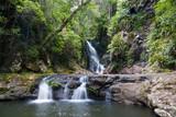 Fototapety Elabana Falls in the Green Mountains, Lamington National Park, Queensland, Australia
