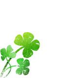 grunge leaf clover