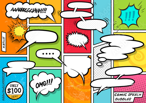 Comic Book Speech Bubbles - 90003287