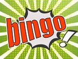 Comic speech bubble red bingo
