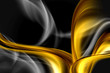 Gold Abstract Black Background