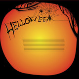 illustration of helloween board