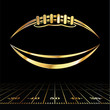 American Football Golden Icon