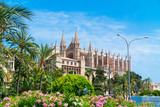Palma de Mallorca, port marina Katedra w Majorce