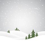 christmas snow hills - 90062452