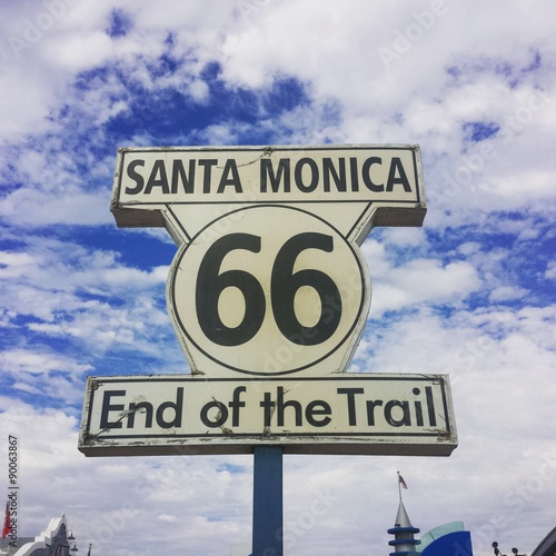 Route 66 end Poster