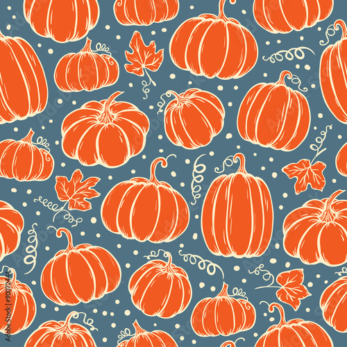 Cotton fabric Pattern of pumpkins