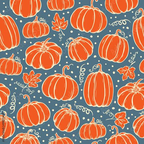 Materiał do szycia Pattern of pumpkins