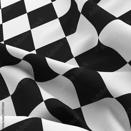 Fototapety, obrazy : Auto sport grid flag background