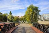 Fototapeta Fototapety mosty linowy / wiszący - alley - a park - Wroclaw © Studio Agaton
