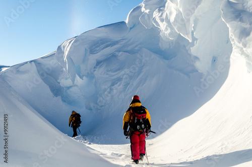 Fotobehang Antarctica Adventures in Antarctica