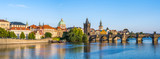 Panorama of Prague city skyline - Czech Republic