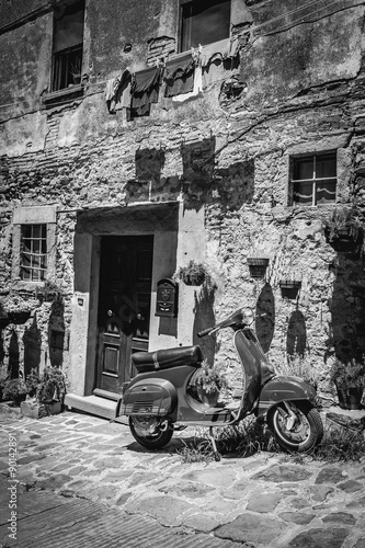 Old scooter in Tuscany
