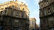 Постер, плакат: The Four Corners Quattro Canti square Palermo Sicily Italy