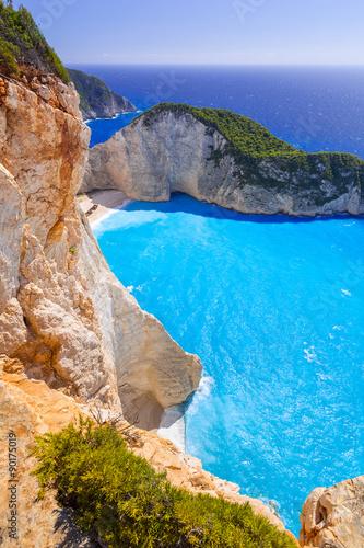 Zdjęcia na płótnie, fototapety, obrazy : Beautiful Navagio Beach (Shipwreck beach) on Zakynthos Island, Greece
