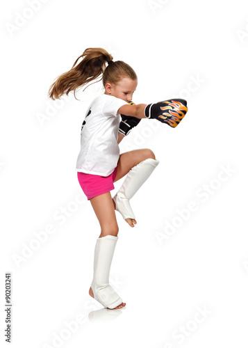 Poster muay thai boxing kid