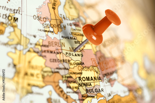 Location Poland. Red pin on the map.