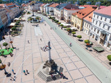 Square in town Banska Bytsrica, Slovakia