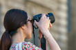 Touriste prenant photo